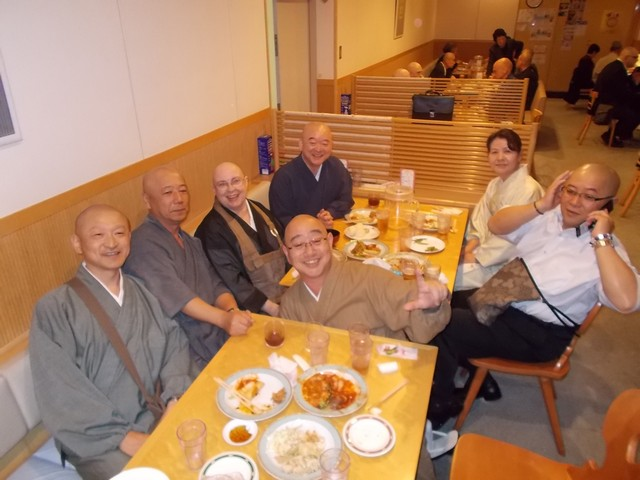 jantar com professores de baika