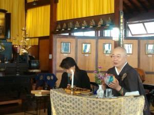Mestre-Palestrante Especial Seijo Amau Sensei no Templo Busshinji, 14 setembro 2014.