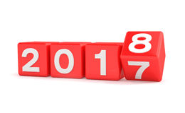 end-of-year-d-render-new-year-concept-cubes-red-over-white-background-represents-97418826